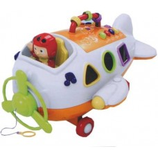 Asian Musical Smart Intellect Airplane (Multicolor)
